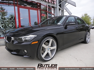 BMW 3 Series with 20in Niche Milan Wheels