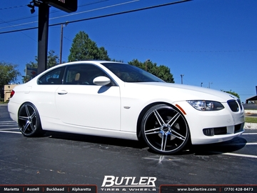 BMW 3 Series with 20in Savini BM4 Wheels