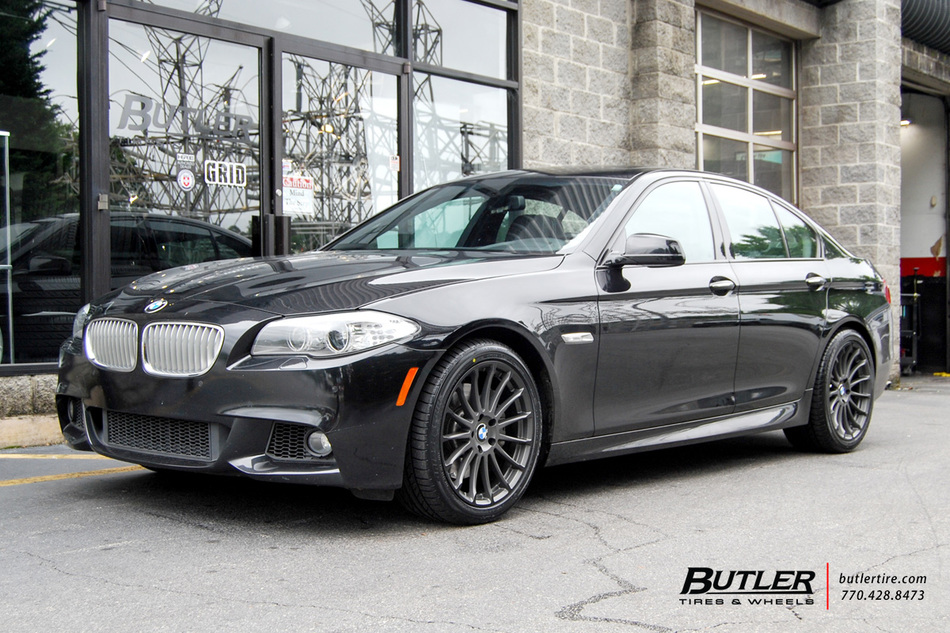 BMW 5 Series with 19in Beyern Aviatic Wheels exclusively from Butler Tires and Wheels in Atlanta ...