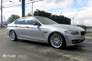 BMW 5 Series with 19in Beyern Aviatic Wheels