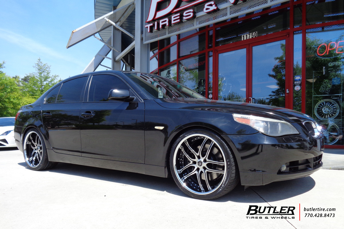 BMW 5 Series with 20in Savini BS2 Wheels