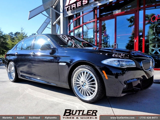 BMW 5 Series with 20in TSW Silverstone Wheels