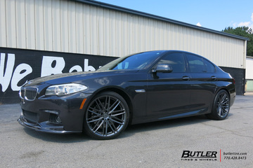 BMW 5 Series with 20in Vossen VFS4 Wheels