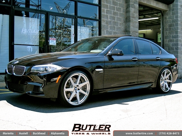 BMW 5 Series with 22in DUB 1 Seven Wheels