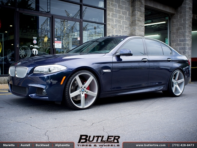 Bmw 5 Series With 22in Niche Milan Wheels Exclusively From