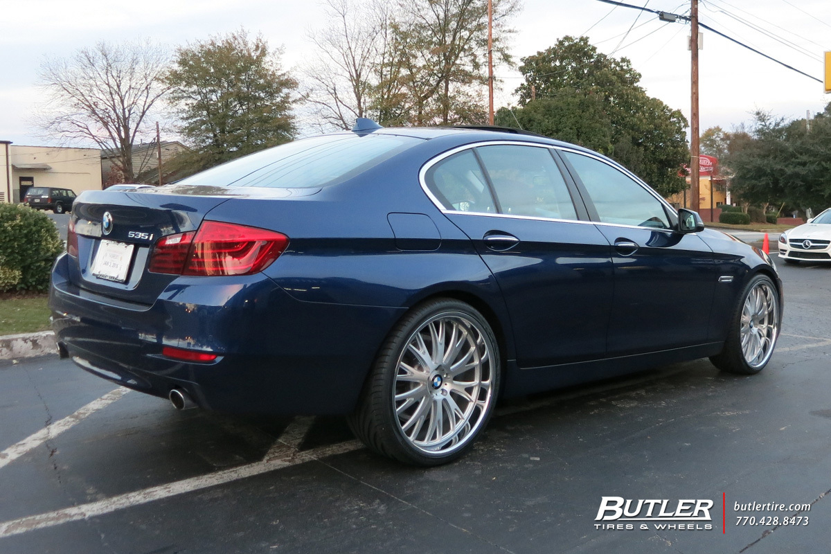 BMW 5 Series with 22in TSW Monaco Wheels