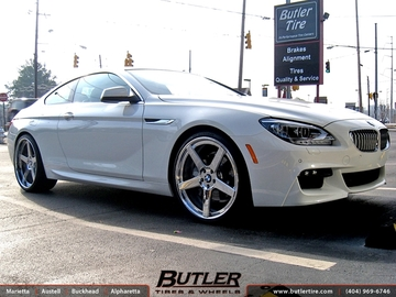 BMW 6 Series with 22in DUB 1 Five Wheels