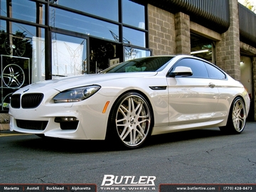 BMW 6 Series with 22in Forgiato Pinzette Wheels