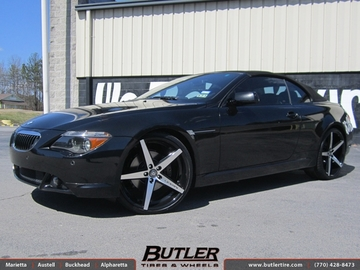 BMW 6 Series with 22in Lexani R-Four Wheels