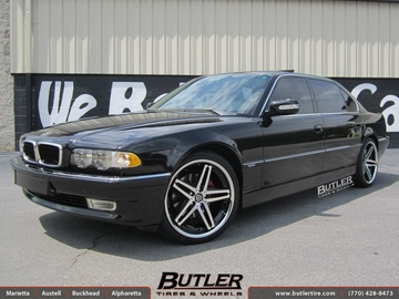 BMW 7 Series with 20in Lexani R-Five Wheels