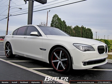 BMW 7 Series with 20in Lexani R-Six Wheels