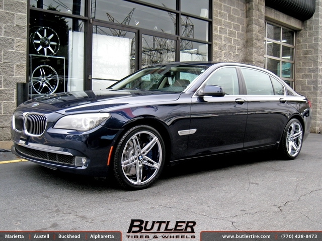 BMW 7 Series with 20in Lexani R-Three Wheels exclusively from Butler Tires and Wheels in Atlanta ...