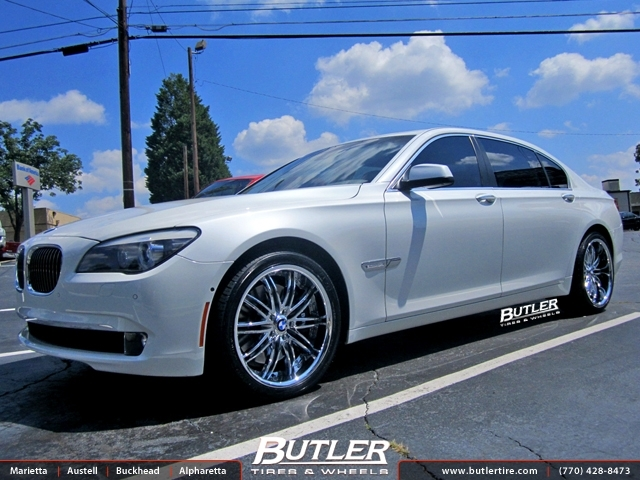 BMW 7 Series with 20in Savini BS4 Wheels