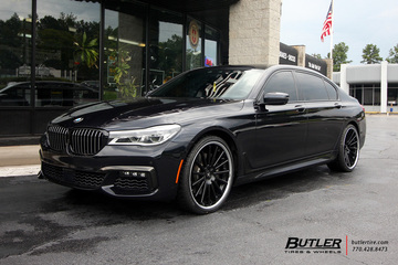 BMW 7 Series with 22in Asanti ABL24 Wheels