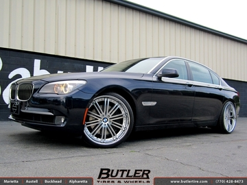 BMW 7 Series with 22in Beyern Baroque Wheels