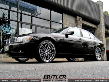 BMW 7 Series with 22in Beyern Mesh Wheels