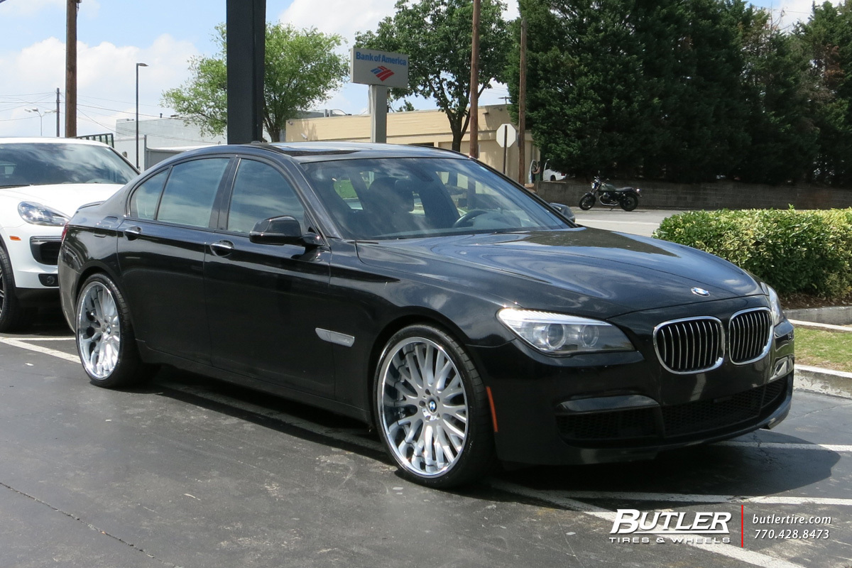 Bmw 7 Series With 22in Beyern Munich Wheels Exclusively