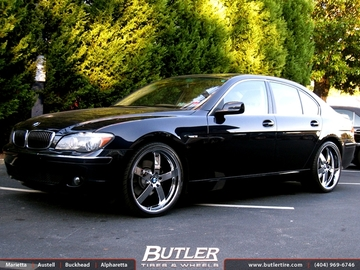 BMW 7 Series with 22in Beyern Rapp Wheels