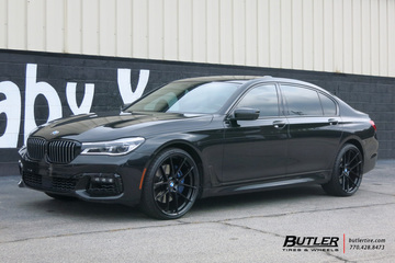 BMW 7 Series with 22in Beyern Ritz Wheels
