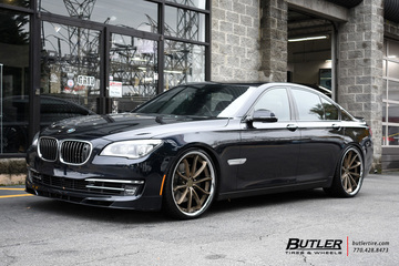 BMW 7 Series with 22in Blaque Diamond BD23 Wheels