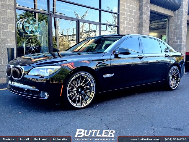BMW 7 Series with 22in DUB 1 4Teen Wheels