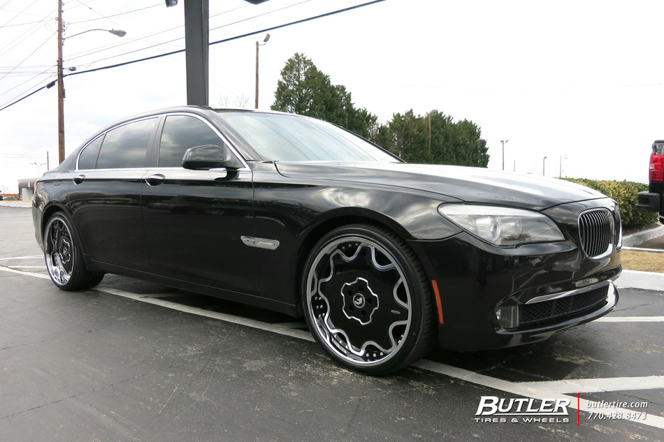 Bmw 7 Series With 22in Forgiato Fiore Wheels Exclusively