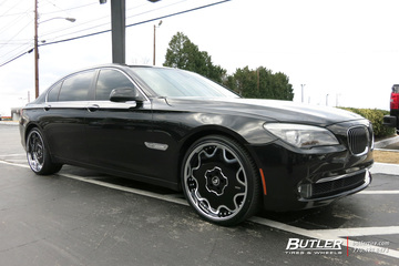 BMW 7 Series with 22in Forgiato Fiore Wheels