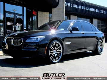 BMW 7 Series with 22in Lexani CVX 44 Wheels