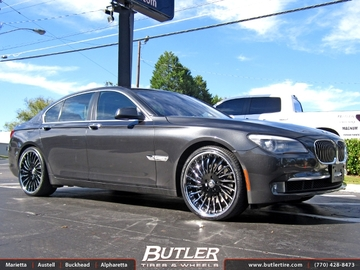 BMW 7 Series with 22in Lexani LS-712 Wheels