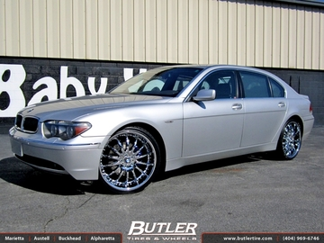 BMW 7 Series with 22in Lexani LX14 Wheels