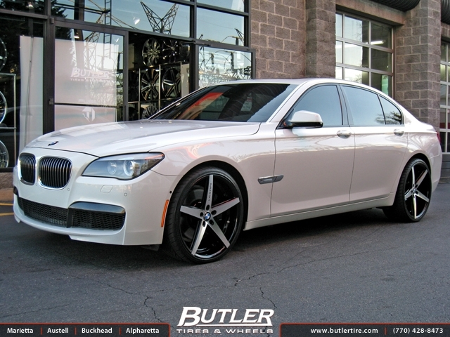 Bmw 7 Series With 22in Lexani R Four Wheels Exclusively