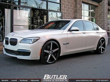BMW 7 Series with 22in Lexani R-Four Wheels