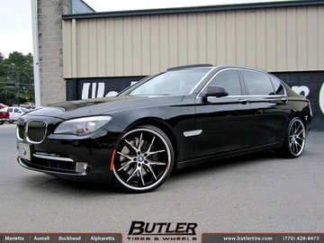 BMW 7 Series with 22in Lexani R-Twelve Wheels