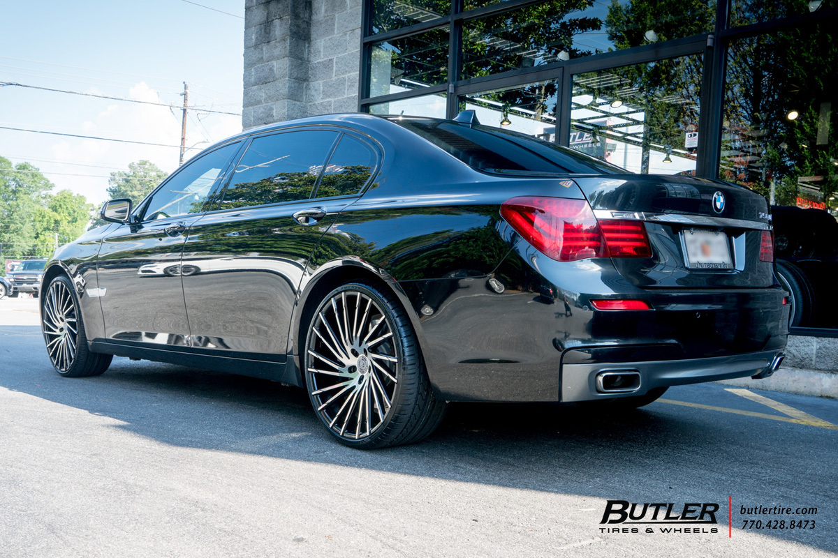BMW 7 Series with 22in Lexani Wraith Wheels