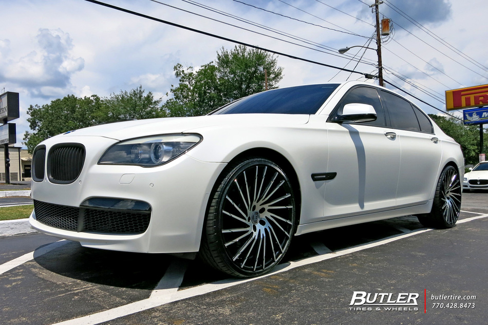 BMW 7 Series with 22in Lexani Wraith Wheels exclusively from Butler Tires and Wheels in Atlanta ...