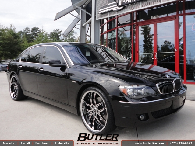 BMW 7 Series with 22in Savini BS2 Wheels