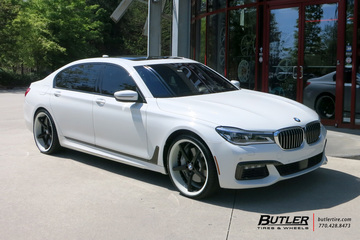 BMW 7 Series with 22in Savini SV44 Wheels