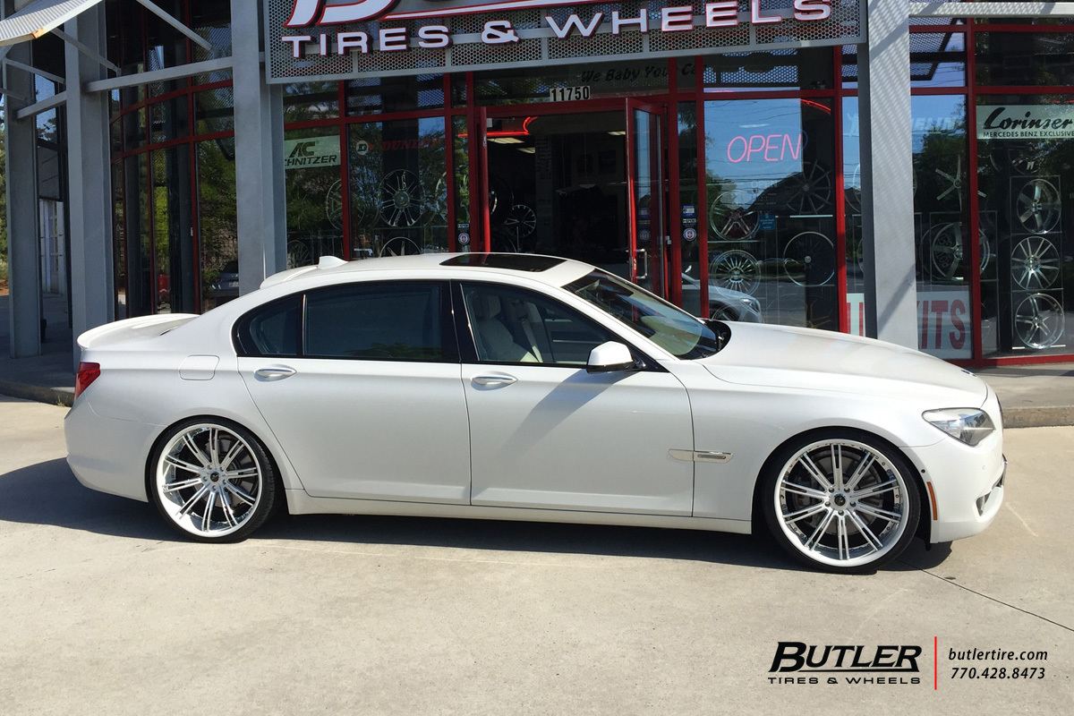 BMW 7 Series with 22in Savini SV47 Wheels