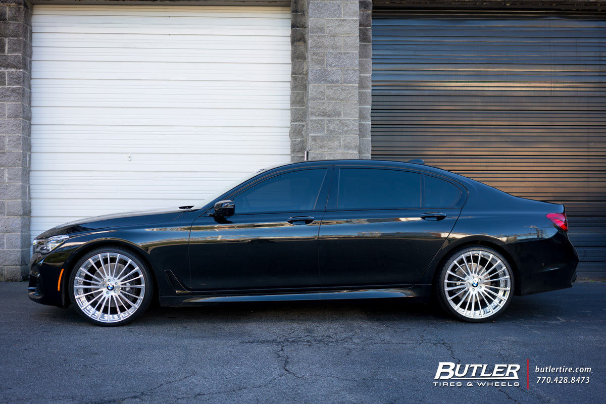 BMW 7 Series with 22in Savini SV61d Wheels