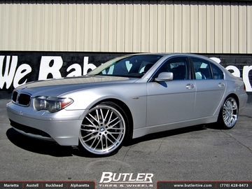 BMW 7 Series with 22in TSW Snetterton Wheels
