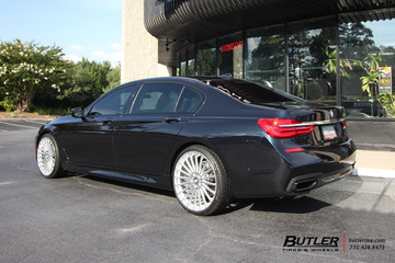 BMW 7 Series with 22in TSW Turbina Wheels