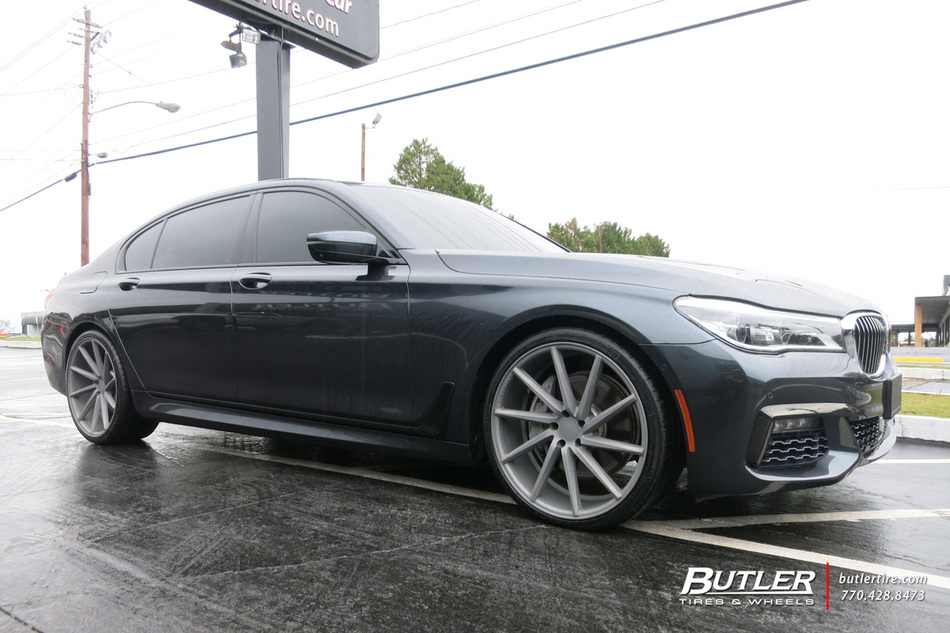 BMW 7 Series with 22in Vossen CVT Wheels exclusively from Butler Tires and Wheels in Atlanta, GA ...