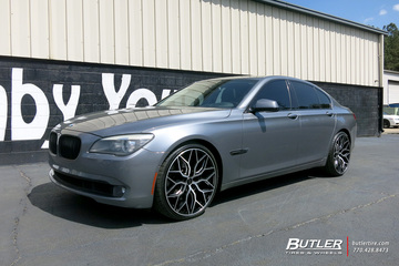 BMW 7 Series with 22in Vossen HF-2 Wheels