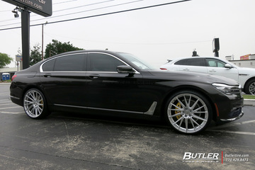BMW 7 Series with 22in Vossen HF-4T Wheels