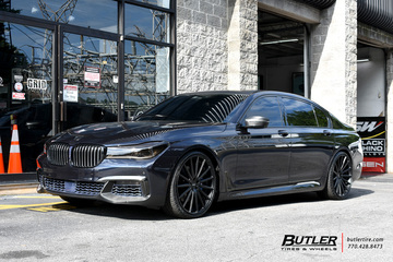 BMW 7 Series with 22in Vossen VFS2 Wheels