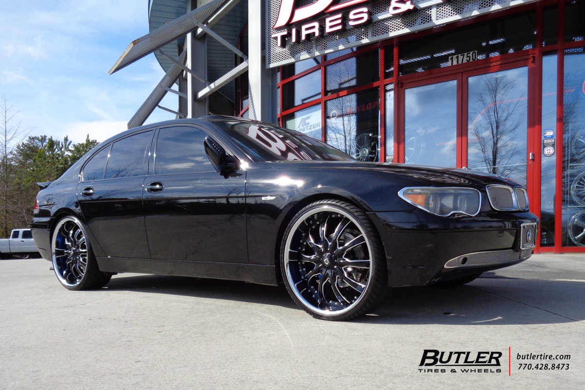 BMW 7 Series with 24in Lexani LSS10 Wheels