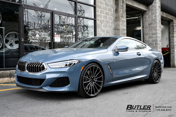 BMW 8 Series with 22in Savini BM16 Wheels