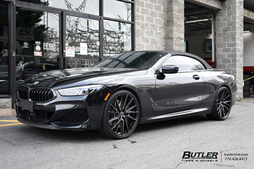 BMW 8 Series with 22in Vossen HF-4T Wheels