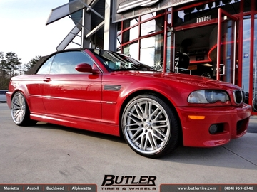 BMW M3 with 20in Lexani CVX 44 Wheels