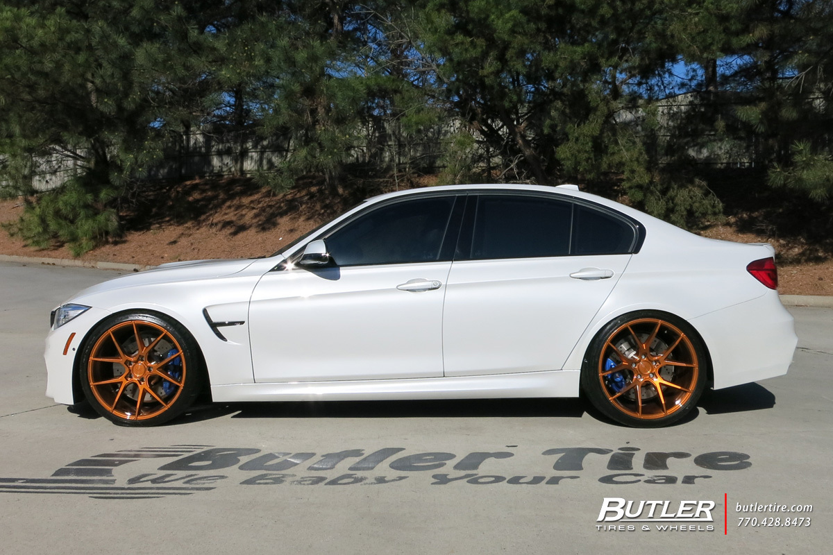 BMW M3 with 20in Savini BM14 Wheels